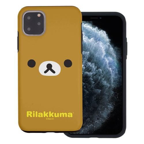 iPhone 11 Pro Max Case (6.5inch) Rilakkuma Layered Hybrid [TPU + PC] Bumper Cover - Face Rilakkuma