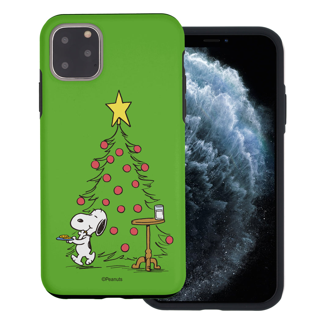iPhone 11 Pro Max Case (6.5inch) PEANUTS Layered Hybrid [TPU + PC] Bumper Cover - Christmas Cookie Snoopy