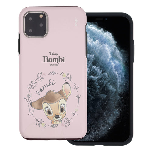 iPhone 11 Pro Max Case (6.5inch) Disney Bambi Layered Hybrid [TPU + PC] Bumper Cover - Face Bambi