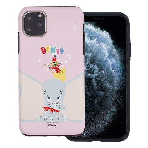 iPhone 11 Pro Max Case (6.5inch) Disney Dumbo Layered Hybrid [TPU + PC] Bumper Cover - Dumbo Overhead