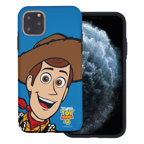 iPhone 11 Case (6.1inch) Toy Story Layered Hybrid [TPU + PC] Bumper Cover - Wide Woody