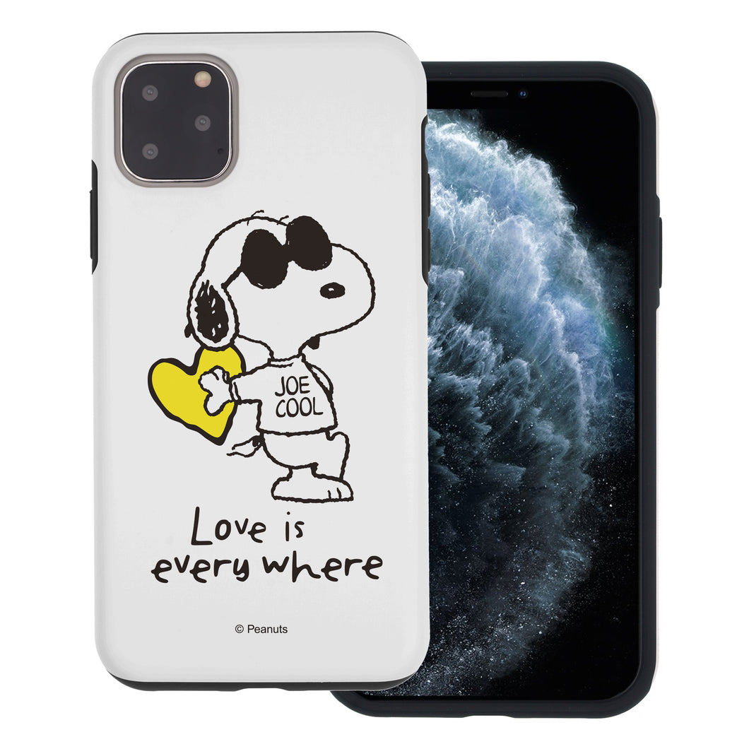 iPhone 12 Pro / iPhone 12 Case (6.1inch) PEANUTS Layered Hybrid [TPU + PC] Bumper Cover - Snoopy Love Yellow
