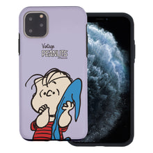 Load image into Gallery viewer, iPhone 12 mini Case (5.4inch) PEANUTS Layered Hybrid [TPU + PC] Bumper Cover - Face Linus