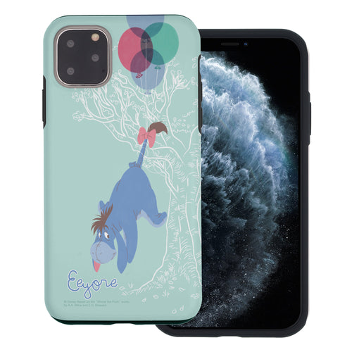iPhone 11 Pro Max Case (6.5inch) Disney Pooh Layered Hybrid [TPU + PC] Bumper Cover - Balloon Eeyore