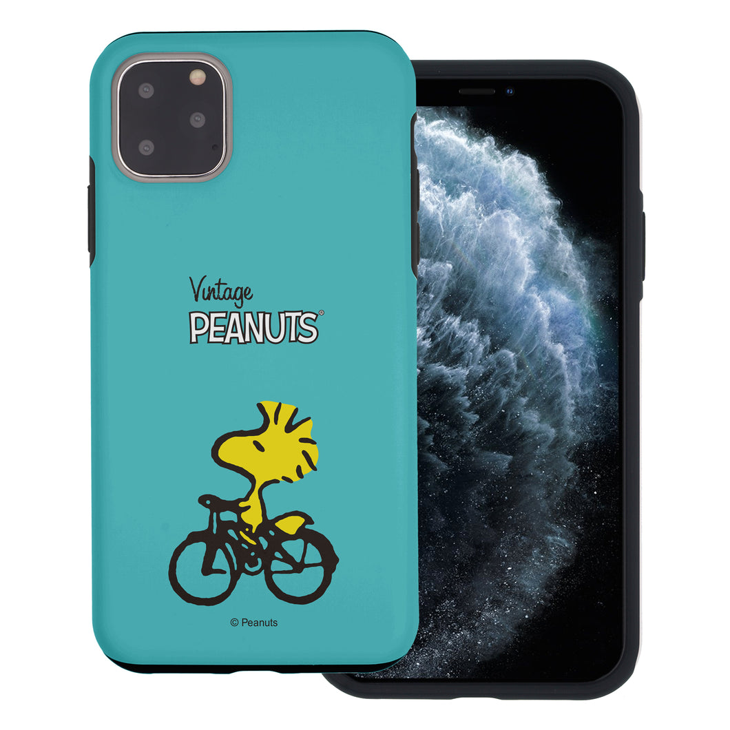 iPhone 11 Pro Case (5.8inch) PEANUTS Layered Hybrid [TPU + PC] Bumper Cover - Simple Woodstock