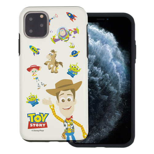 iPhone 11 Case (6.1inch) Toy Story Layered Hybrid [TPU + PC] Bumper Cover - Pattern Woody