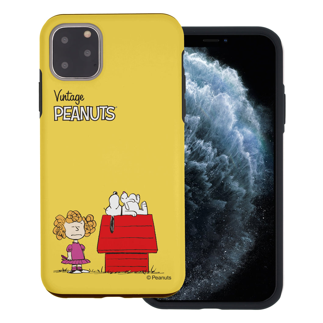 iPhone 11 Pro Case (5.8inch) PEANUTS Layered Hybrid [TPU + PC] Bumper Cover - Small Snoopy House