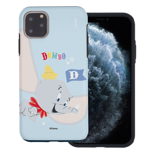 iPhone 11 Pro Max Case (6.5inch) Disney Dumbo Layered Hybrid [TPU + PC] Bumper Cover - Dumbo Fly