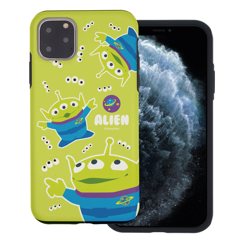 iPhone 11 Case (6.1inch) Toy Story Layered Hybrid [TPU + PC] Bumper Cover - Pattern Alien Eyes