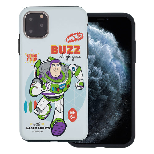 iPhone 11 Case (6.1inch) Toy Story Layered Hybrid [TPU + PC] Bumper Cover - Full Buzz
