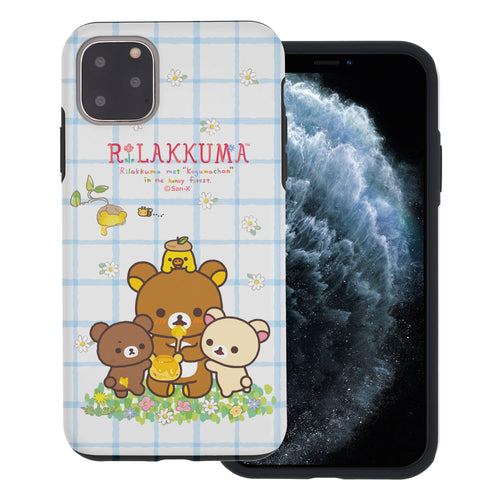 iPhone 11 Pro Max Case (6.5inch) Rilakkuma Layered Hybrid [TPU + PC] Bumper Cover - Rilakkuma Honey