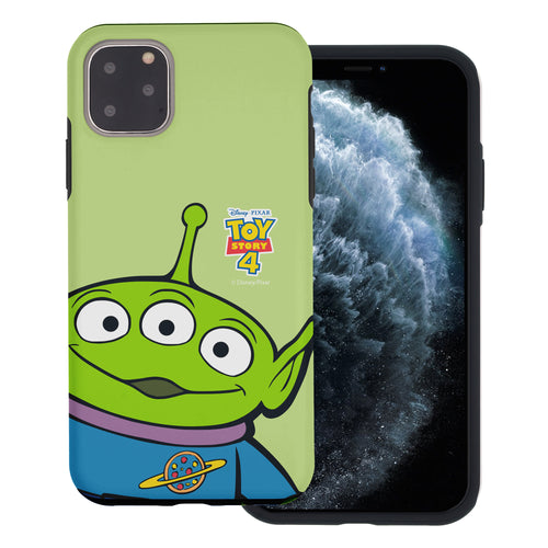 iPhone 11 Case (6.1inch) Toy Story Layered Hybrid [TPU + PC] Bumper Cover - Wide Alien