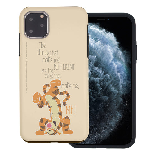 iPhone 12 mini Case (5.4inch) Disney Pooh Layered Hybrid [TPU + PC] Bumper Cover - Words Tigger