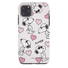 Load image into Gallery viewer, iPhone 11 Pro Case (5.8inch) PEANUTS Layered Hybrid [TPU + PC] Bumper Cover - Snoopy Heart Pattern