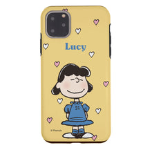 Load image into Gallery viewer, iPhone 11 Case (6.1inch) PEANUTS Layered Hybrid [TPU + PC] Bumper Cover - Lucy Heart Stand