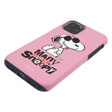 Load image into Gallery viewer, iPhone 11 Pro Max Case (6.5inch) PEANUTS Layered Hybrid [TPU + PC] Bumper Cover - Snoopy Face Baby pink