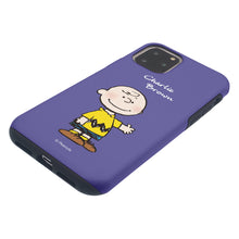 Load image into Gallery viewer, iPhone 11 Pro Max Case (6.5inch) PEANUTS Layered Hybrid [TPU + PC] Bumper Cover - Charlie Brown Stand Purple