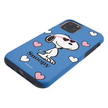 Load image into Gallery viewer, iPhone 12 Pro Max Case (6.7inch) PEANUTS Layered Hybrid [TPU + PC] Bumper Cover - Snoopy Heart Glasses Blue