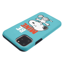 Load image into Gallery viewer, iPhone 12 mini Case (5.4inch) PEANUTS Layered Hybrid [TPU + PC] Bumper Cover - Snoopy Be Mine Cyan