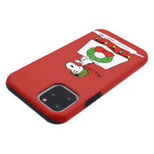 Load image into Gallery viewer, iPhone 11 Pro Case (5.8inch) PEANUTS Layered Hybrid [TPU + PC] Bumper Cover - Christmas Wreath Snoopy