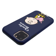 Load image into Gallery viewer, iPhone 11 Pro Case (5.8inch) PEANUTS Layered Hybrid [TPU + PC] Bumper Cover - Charlie Brown Big Heart