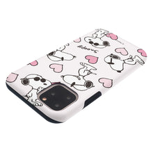 Load image into Gallery viewer, iPhone 12 Pro Max Case (6.7inch) PEANUTS Layered Hybrid [TPU + PC] Bumper Cover - Snoopy Heart Pattern