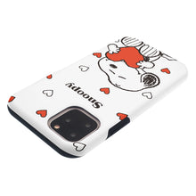 Load image into Gallery viewer, iPhone 11 Pro Max Case (6.5inch) PEANUTS Layered Hybrid [TPU + PC] Bumper Cover - Snoopy Big Heart White