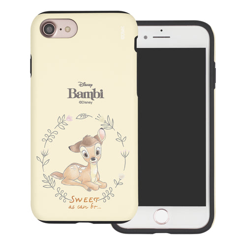 iPhone SE 2020 / iPhone 8 / iPhone 7 Case (4.7inch) Disney Bambi Layered Hybrid [TPU + PC] Bumper Cover - Full Bambi