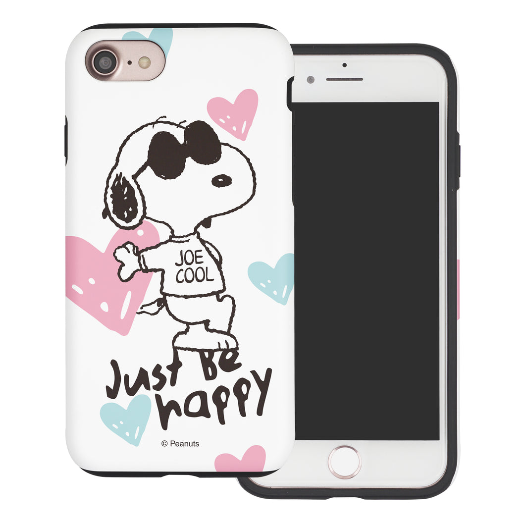 iPhone SE 2020 / iPhone 8 / iPhone 7 Case (4.7inch) PEANUTS Layered Hybrid [TPU + PC] Bumper Cover - Snoopy Love Pink