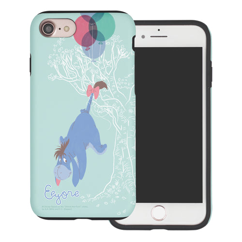 iPhone SE 2020 / iPhone 8 / iPhone 7 Case (4.7inch) Disney Pooh Layered Hybrid [TPU + PC] Bumper Cover - Balloon Eeyore