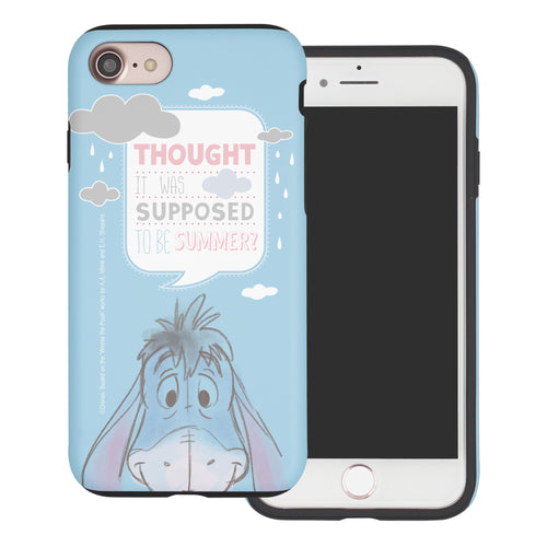 iPhone SE 2020 / iPhone 8 / iPhone 7 Case (4.7inch) Disney Pooh Layered Hybrid [TPU + PC] Bumper Cover - Words Eeyore Face