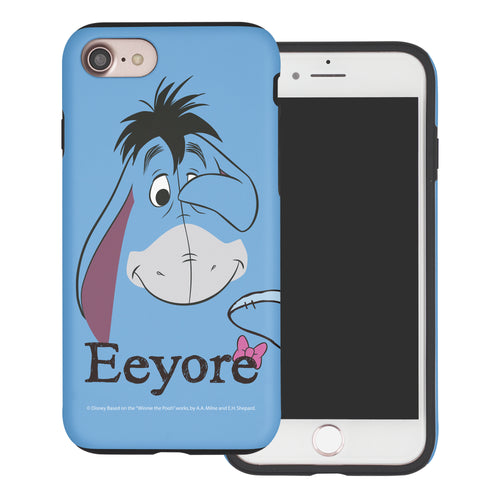 iPhone 6S Plus / iPhone 6 Plus Case Disney Pooh Layered Hybrid [TPU + PC] Bumper Cover - Face Line Eeyore