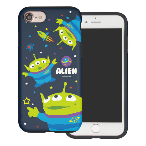 iPhone 8 Plus / iPhone 7 Plus Case Toy Story Layered Hybrid [TPU + PC] Bumper Cover - Pattern Alien Space