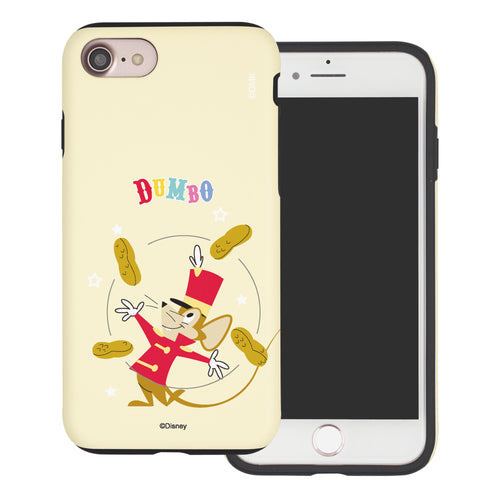 iPhone SE 2020 / iPhone 8 / iPhone 7 Case (4.7inch) Disney Dumbo Layered Hybrid [TPU + PC] Bumper Cover - Dumbo Timothy