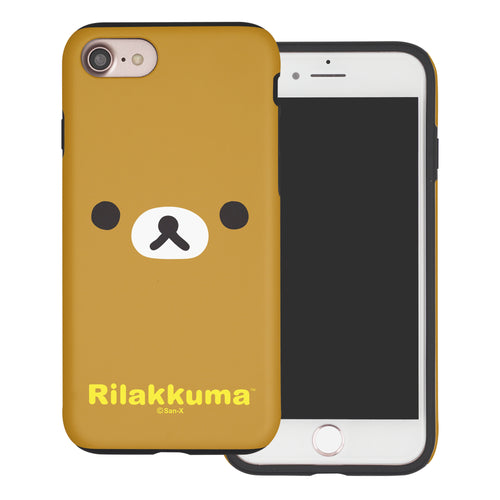 iPhone SE 2020 / iPhone 8 / iPhone 7 Case (4.7inch) Rilakkuma Layered Hybrid [TPU + PC] Bumper Cover - Face Rilakkuma