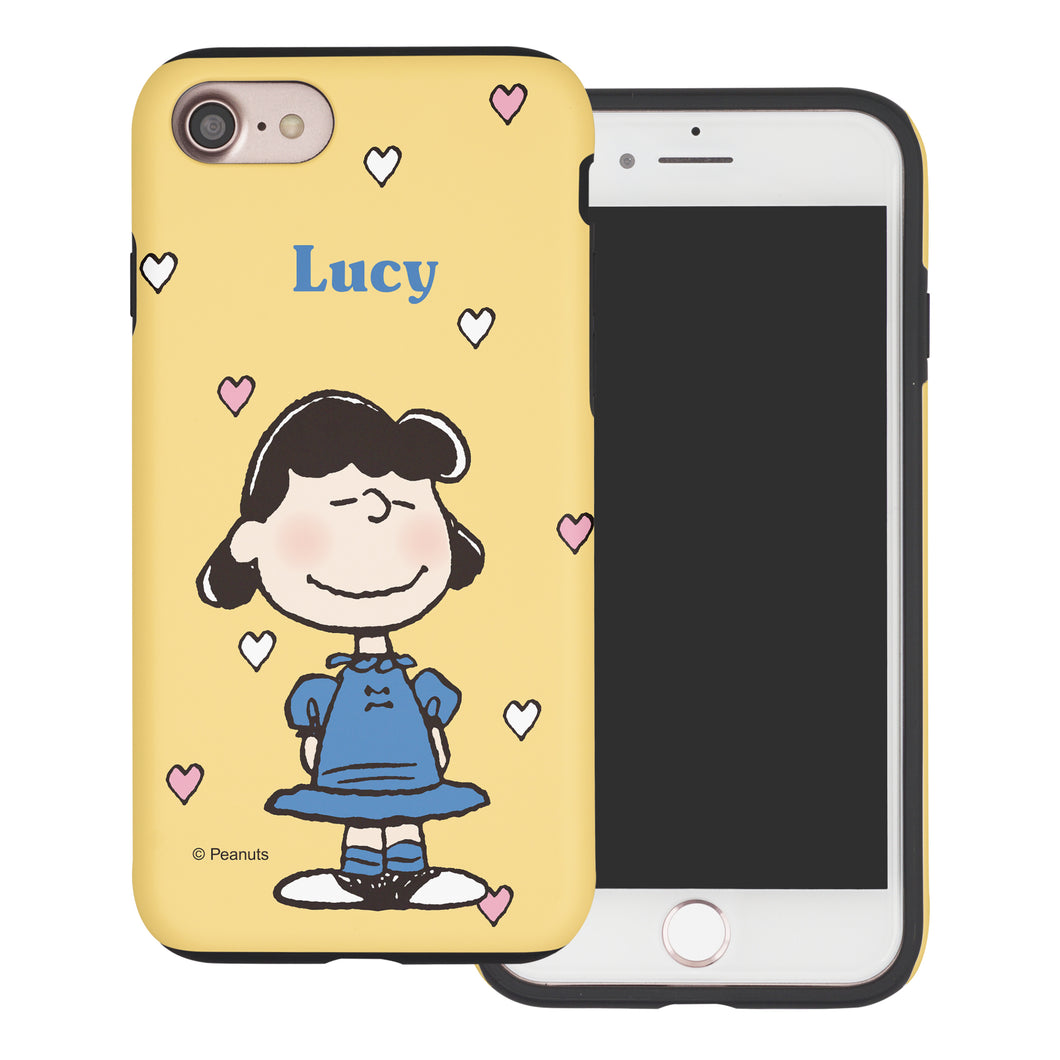iPhone 5S / iPhone 5 / iPhone SE (2016) Case PEANUTS Layered Hybrid [TPU + PC] Bumper Cover - Lucy Heart Stand