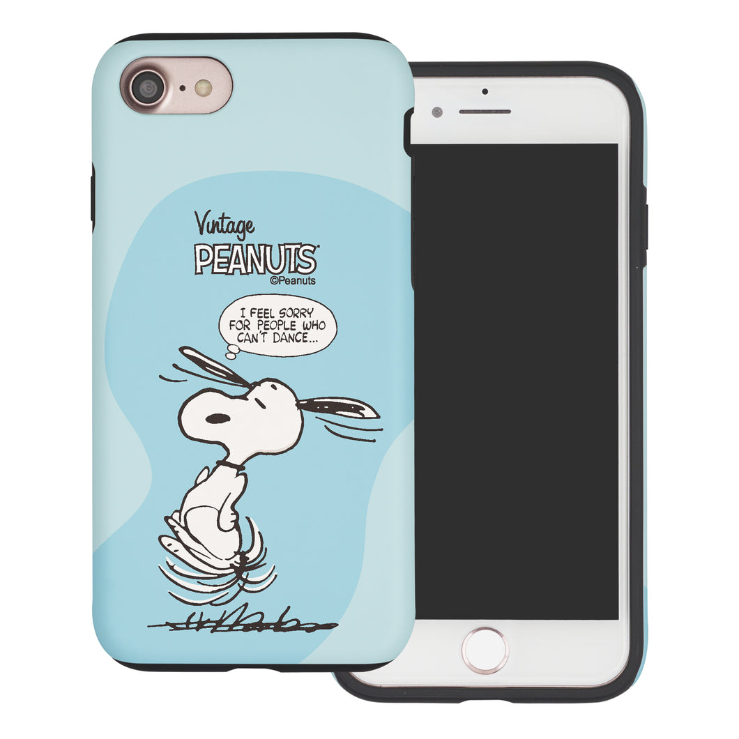 iPhone 6S Plus / iPhone 6 Plus Case PEANUTS Layered Hybrid [TPU + PC] Bumper Cover - Cartoon Snoopy Dance