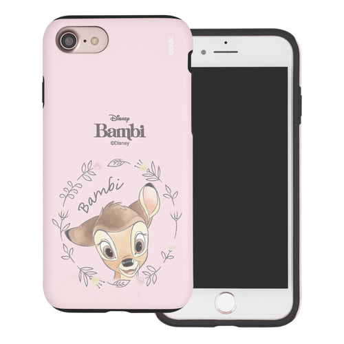 iPhone SE 2020 / iPhone 8 / iPhone 7 Case (4.7inch) Disney Bambi Layered Hybrid [TPU + PC] Bumper Cover - Face Bambi