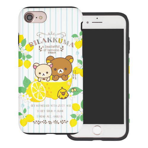 iPhone SE 2020 / iPhone 8 / iPhone 7 Case (4.7inch) Rilakkuma Layered Hybrid [TPU + PC] Bumper Cover - Rilakkuma Lemon