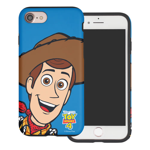 iPhone 8 Plus / iPhone 7 Plus Case Toy Story Layered Hybrid [TPU + PC] Bumper Cover - Wide Woody