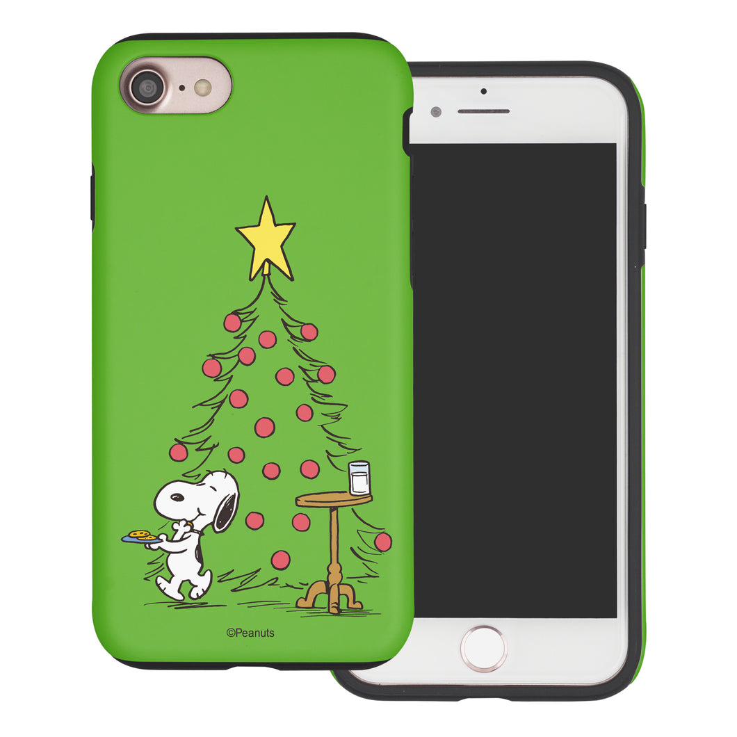 iPhone SE 2020 / iPhone 8 / iPhone 7 Case (4.7inch) PEANUTS Layered Hybrid [TPU + PC] Bumper Cover - Christmas Cookie Snoopy