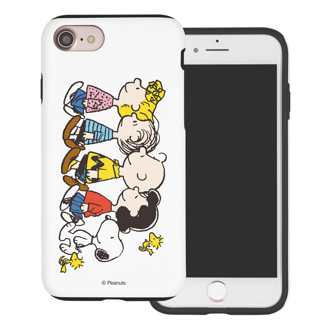 iPhone 5S / iPhone 5 / iPhone SE (2016) Case PEANUTS Layered Hybrid [TPU + PC] Bumper Cover - Peanuts Friends Stand