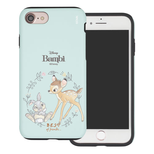 iPhone SE 2020 / iPhone 8 / iPhone 7 Case (4.7inch) Disney Bambi Layered Hybrid [TPU + PC] Bumper Cover - Full Bambi Thumper