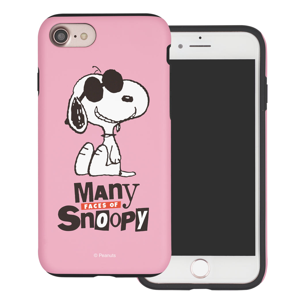 iPhone 6S / iPhone 6 Case (4.7inch) PEANUTS Layered Hybrid [TPU + PC] Bumper Cover - Snoopy Face Baby pink