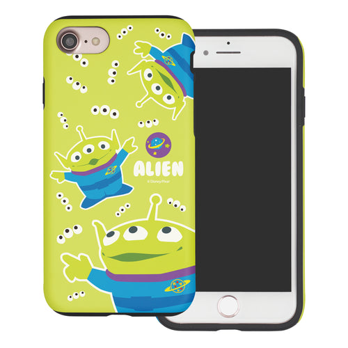 iPhone 8 Plus / iPhone 7 Plus Case Toy Story Layered Hybrid [TPU + PC] Bumper Cover - Pattern Alien Eyes