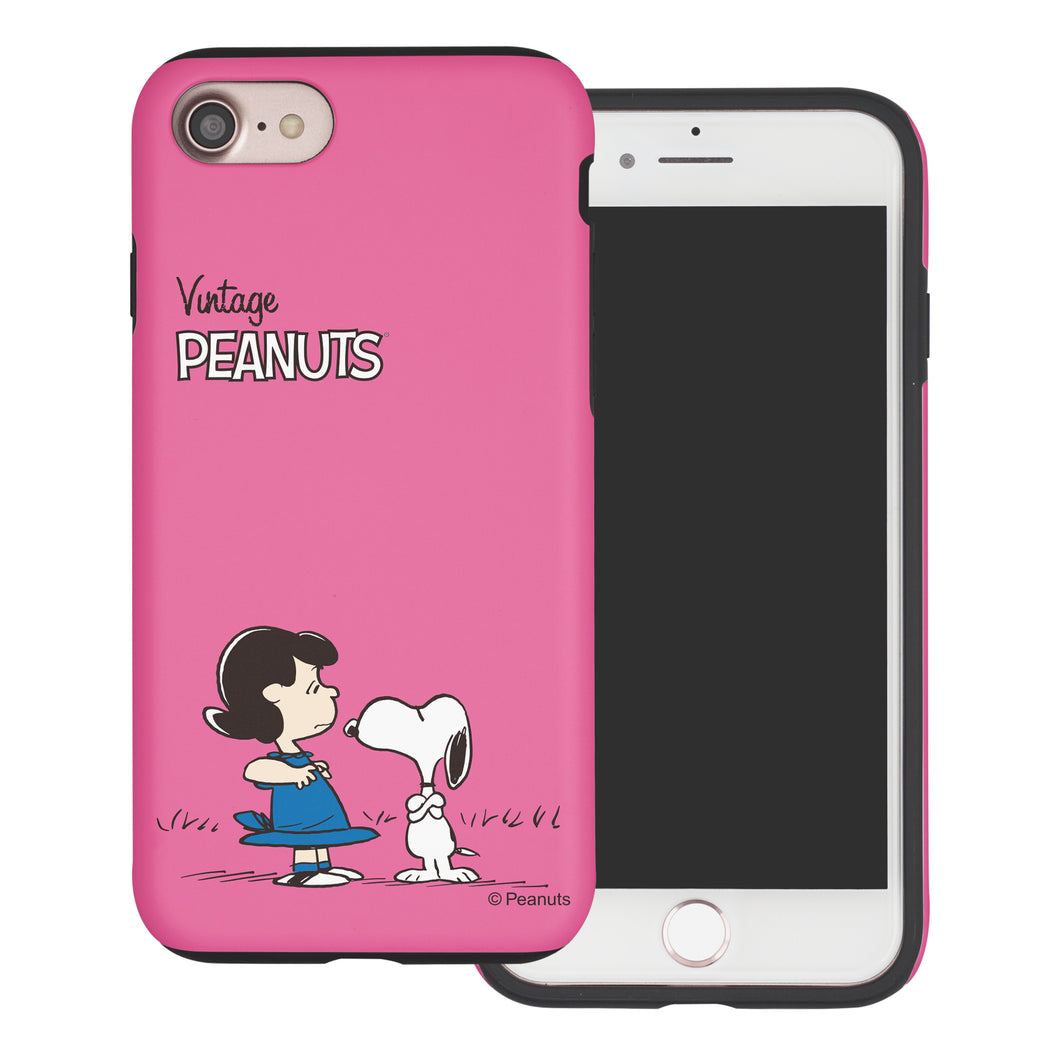 iPhone 6S Plus / iPhone 6 Plus Case PEANUTS Layered Hybrid [TPU + PC] Bumper Cover - Small Snoopy Lucy