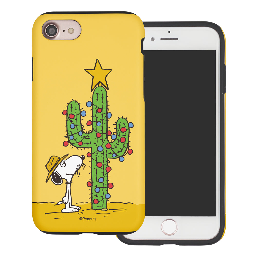 iPhone 6S Plus / iPhone 6 Plus Case PEANUTS Layered Hybrid [TPU + PC] Bumper Cover - Christmas Cactus Snoopy
