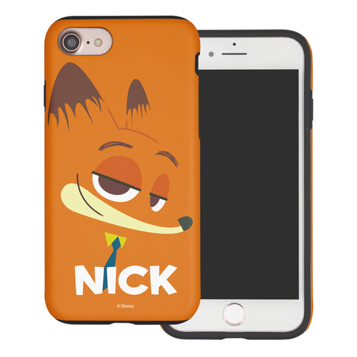 iPhone 6S Plus / iPhone 6 Plus Case Disney Zootopia Layered Hybrid [TPU + PC] Bumper Cover - Face Nick