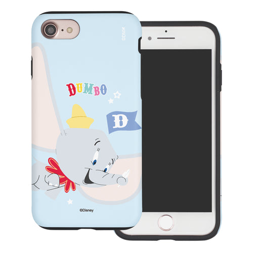 iPhone SE 2020 / iPhone 8 / iPhone 7 Case (4.7inch) Disney Dumbo Layered Hybrid [TPU + PC] Bumper Cover - Dumbo Fly