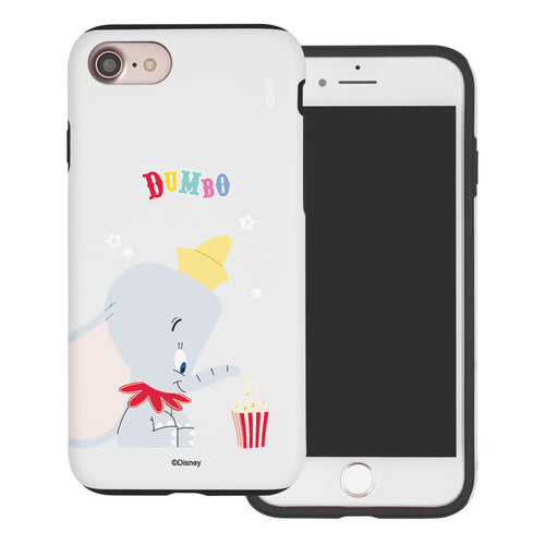 iPhone SE 2020 / iPhone 8 / iPhone 7 Case (4.7inch) Disney Dumbo Layered Hybrid [TPU + PC] Bumper Cover - Dumbo Popcorn
